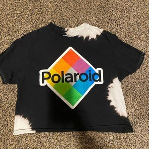 Bleached Polaroid crop top
